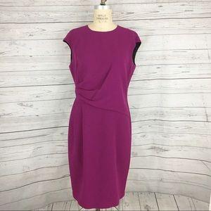 Lafayette 148 wool ruched dress